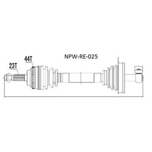 NTY Poloosa přední RENAULT MEGANE I 1.9DTI/DCI, 2.0 96-99