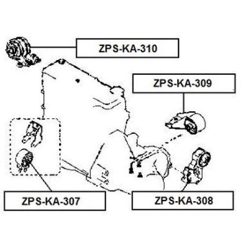 NTY Silentblok motoru KIA SPORTAGE 98-03 KIA CARENS II 02