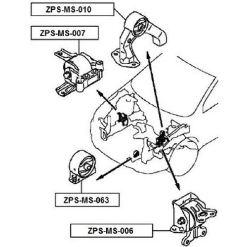 FEB Silentblok motoru MITSUBISHI OUTLANDER CW 06-12 LANCER
