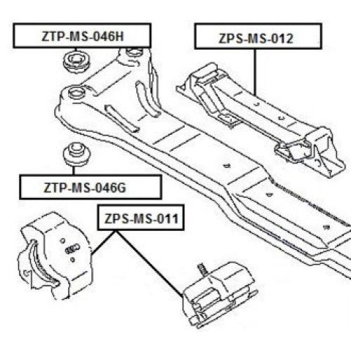 NTY Silentblok motoru MITSUBISHI PAJERO III V65W V75W 00
