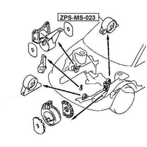 FEB Silentblok motoru MITSUBISHI SPACE WAGON N38 92-00