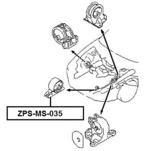 FEB Silentblok motoru MITSUBISHI GALANT USA 96-03 DODGE