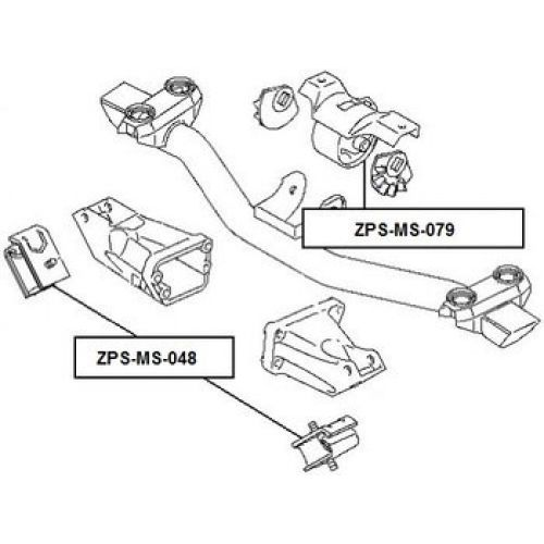 FEB Silentblok motoru MITSUBISHI PAJERO PININ/IO H61W-H77W