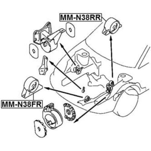 FEB Silentblok motoru MITSUBISHI SPACE WAGON GRANDIS N33