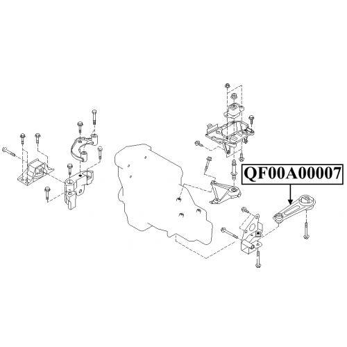 NTY Silentblok motoru NISSAN MICRA K12 03- ALMERA N16 UK