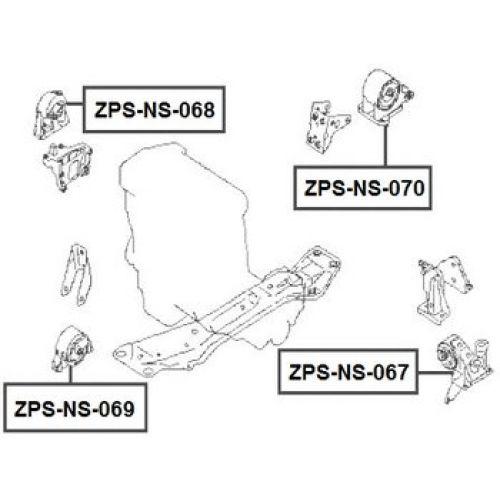 NTY Silentblok motoru NISSAN PRIMERA P12 01-07 X-TRAIL T30