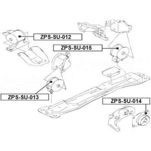 NTY Silentblok motoru SUZUKI SX4 06- Levý