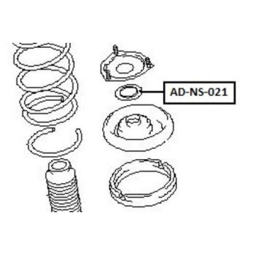 NTY Uložení tlumič podpěra NISSAN PRIMERA P12 02- X-TRAIL