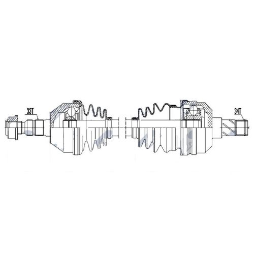 NTY Poloosa přední OPEL ASTRA H 1.7CDTI 1.8 04- ZAFIRA B C