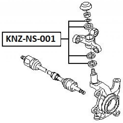 NTY Opravný kit těhlice přední NISSAN PRIMERA P12 2001