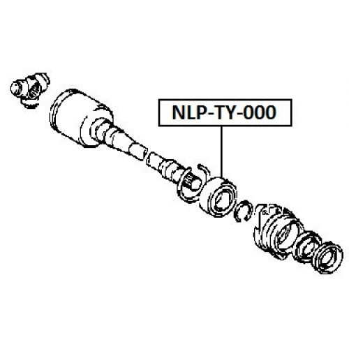 NTY Ložisko poloosa TOYOTA COROLLA 91-97 AVENSIS 97- RAV-4