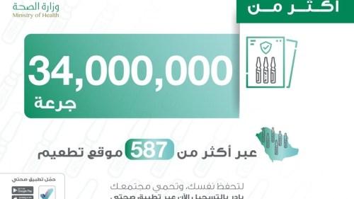 عدد الجرعات في السعودية