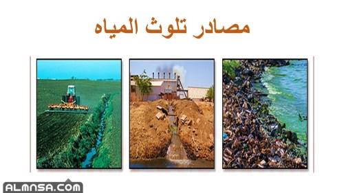 ما هي مصادر تلوث المياه