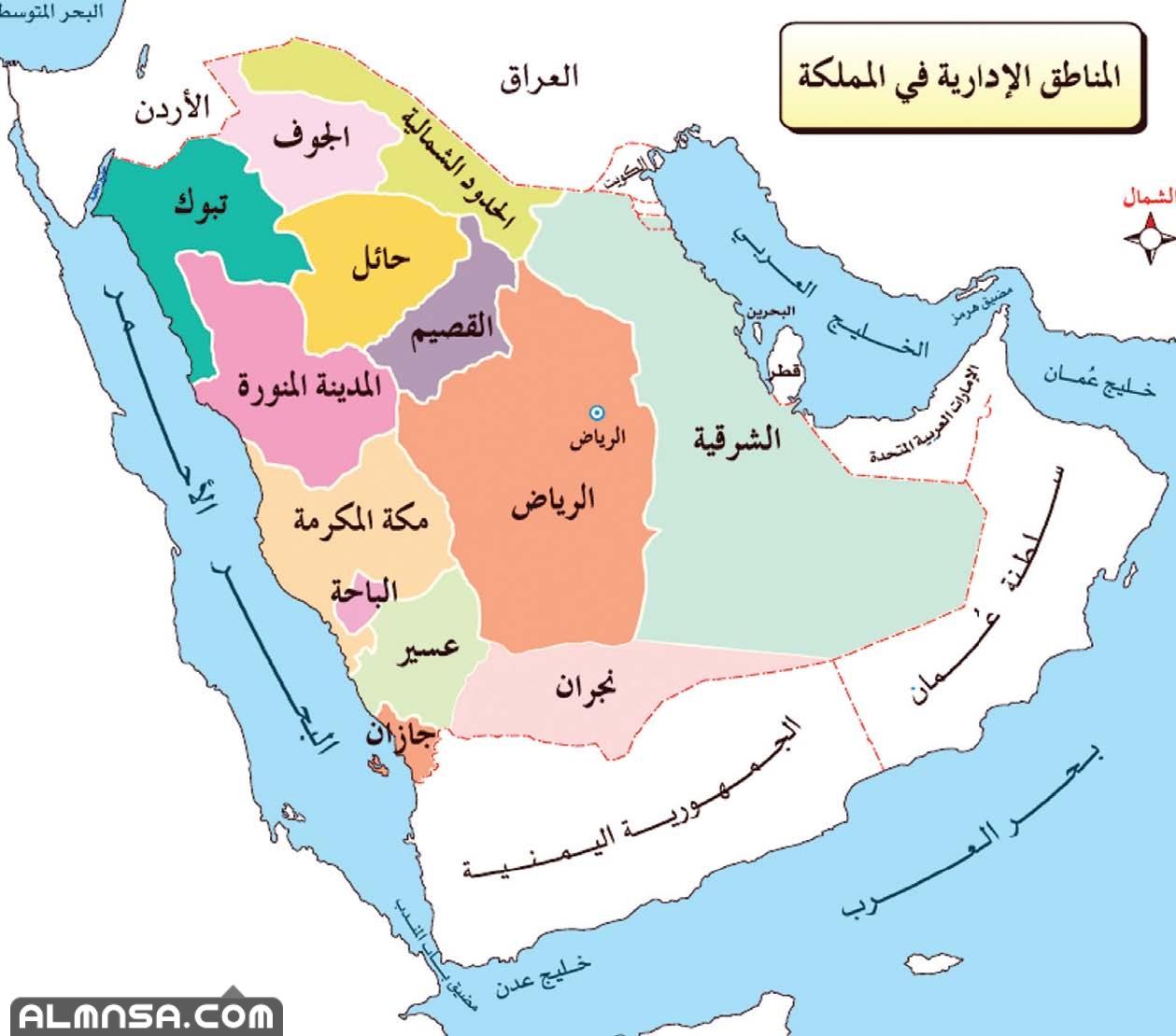 خريطة السعودية صماء