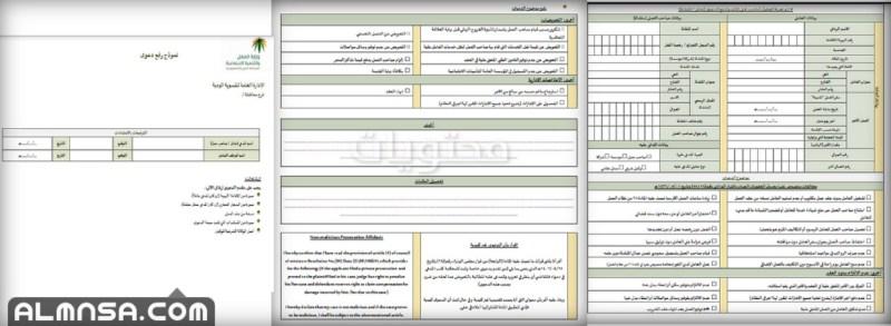 نموذج رفع دعوى مكتب العمل pdf 1443