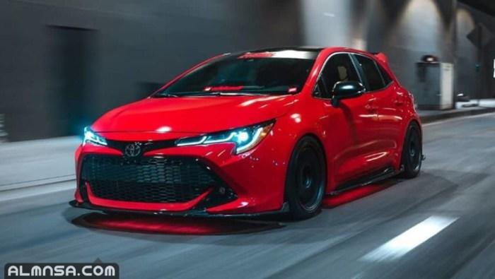 انواع سيارات تويوتا واسعارها 2021