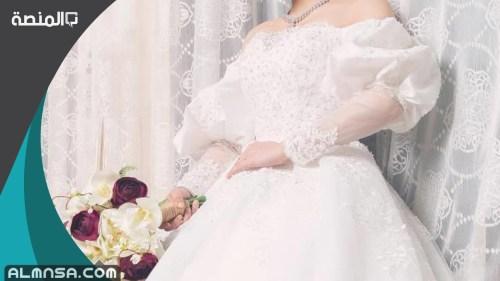 فساتين زفاف فخمه خليجيه 2021