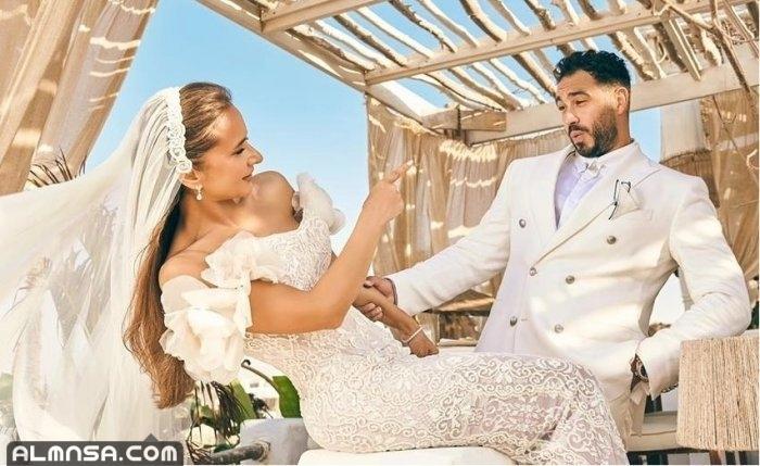بالصور زواج نيللي كريم من هشام عاشور