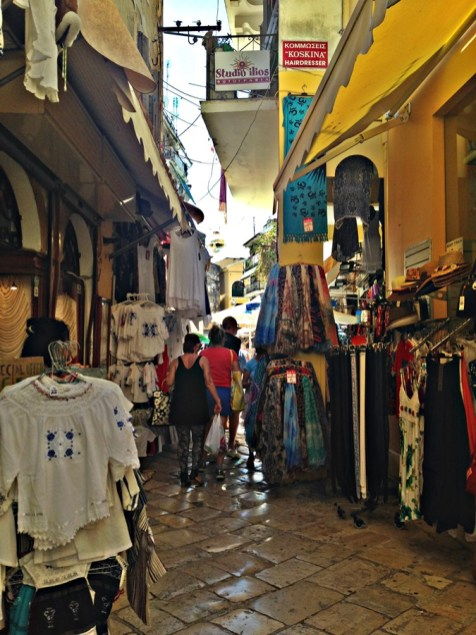 Strada-bazar-Corfu