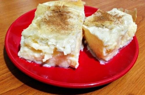 galaktobureko - plăcinta cu cremă de lapte.