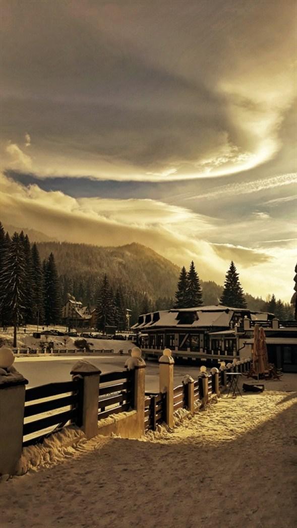 Peisaj de iarnă în Poiana Brașov