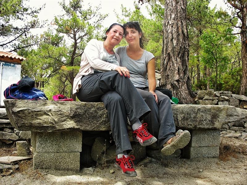 Femei în drumeție montană Ikaria