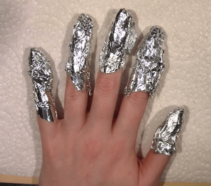 how to get sparkly nail polish off
