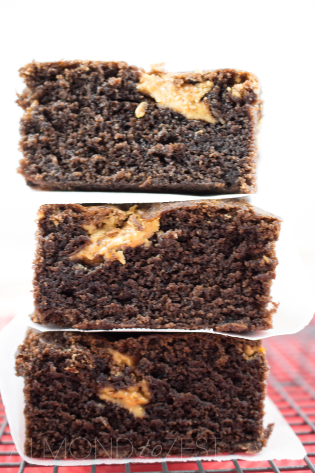 Peanut Butter Swirl Cake - Super moist, buttery, exploding with chocolate and swirled with peanut butter. A foolproof cake recipe everyone will love!!