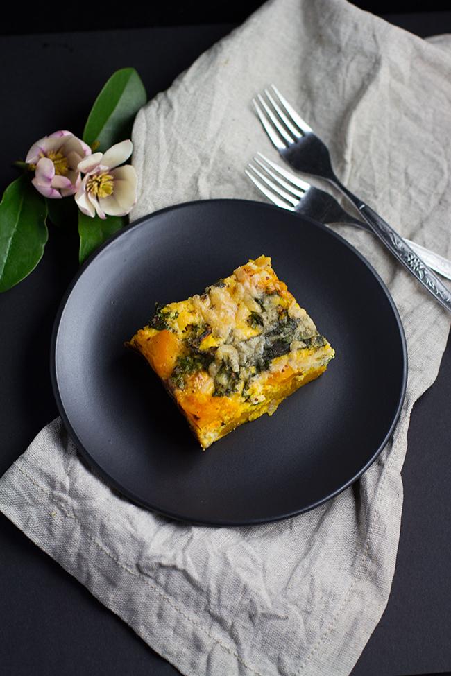 Roast Pumpkin and Kale Frittata with Crispy Sage