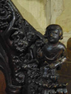 The great chair from Evesham Abbey (close-up)