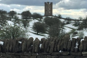Broadway Tower in Winter by Eric Bellshaw