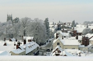 Evesham in the Snow by Phred Newbury