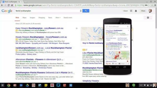 Google Adwords - desktop and mobile