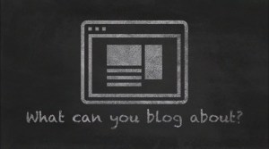what can you blog about