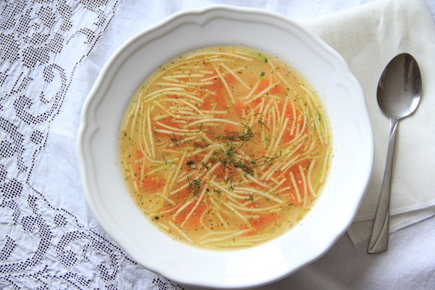 Slovak Bone Broth Sunday Soup