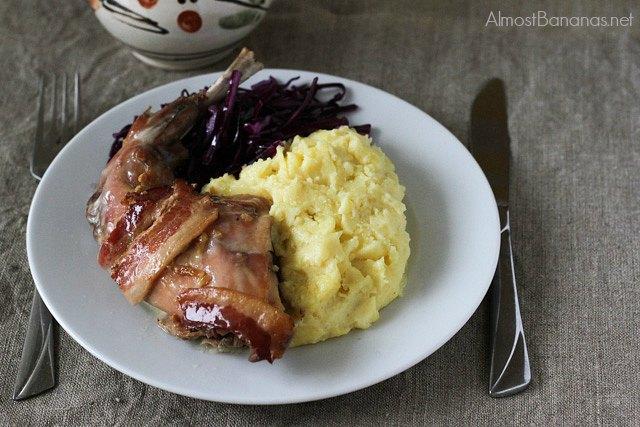 Slovak Roast Rabbt, juicy baked rabbit recipe on Almost Bananas