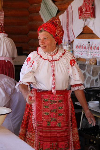 Slovak woman from Helpa in kroj