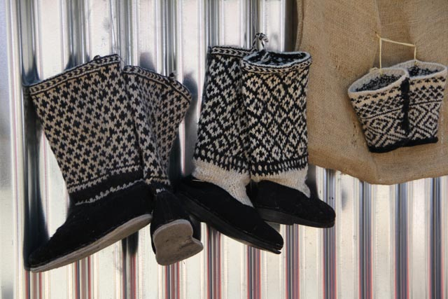 Boots made of wool