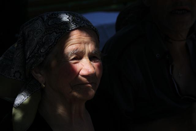 Older lady in shadows