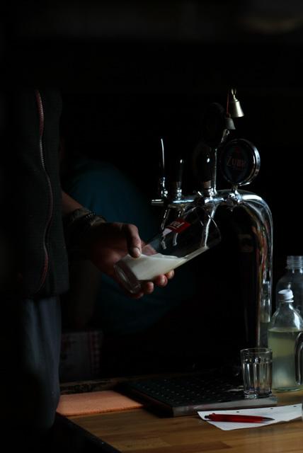 Filling a beer mug at Chata pod Borisovom, Slovakia