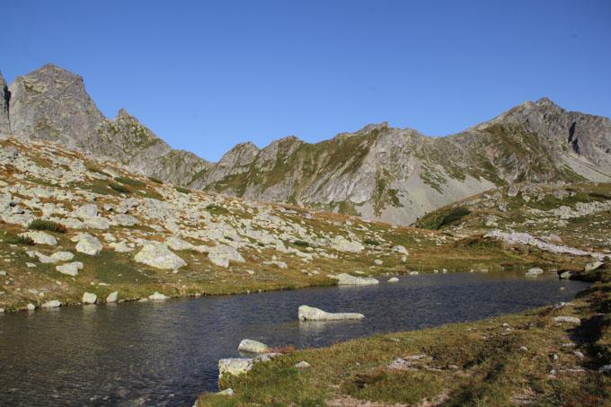 Little alpine pond