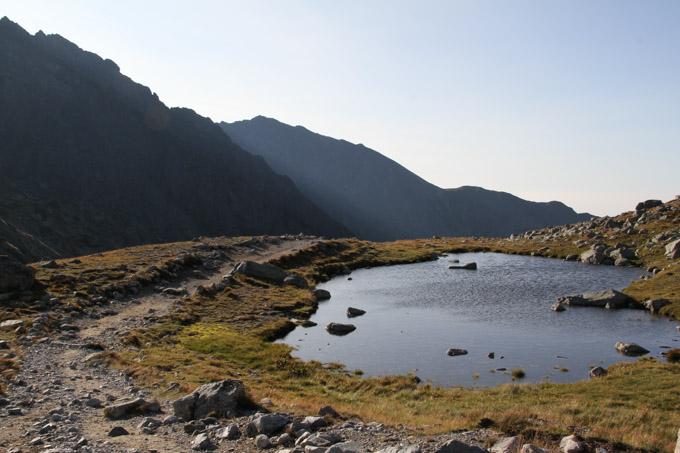Meadow and little lake near Velke Hincovo Pleso, Slovakia