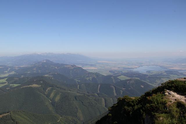 View from Veľký Choč, Slovakia