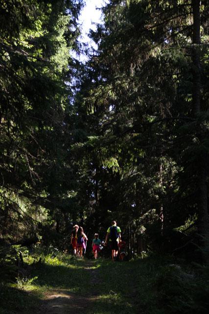 Hiking up Veľký Choč, Slovakia