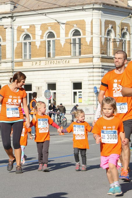 Family run at Kosice Peace Marathon