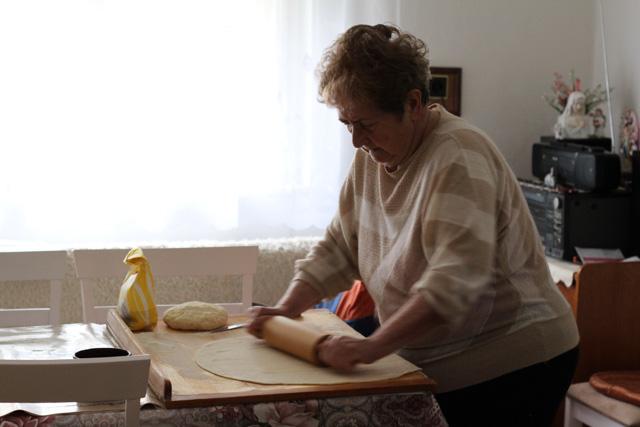 Pani Obulana rolling dough