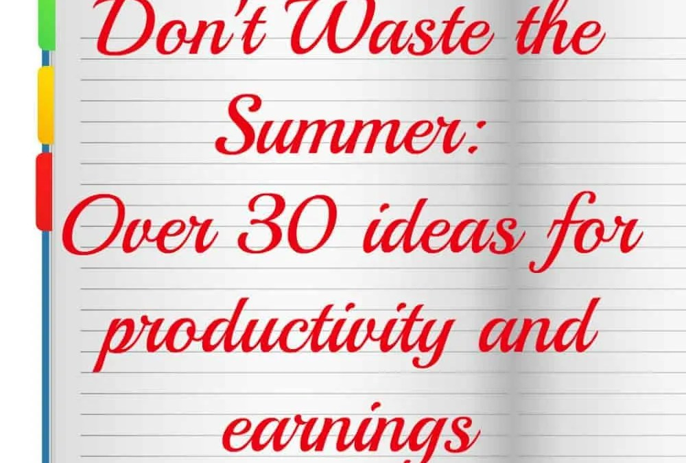Don't Waste the Summer: Over 30 Ideas for Productivity and Earnings