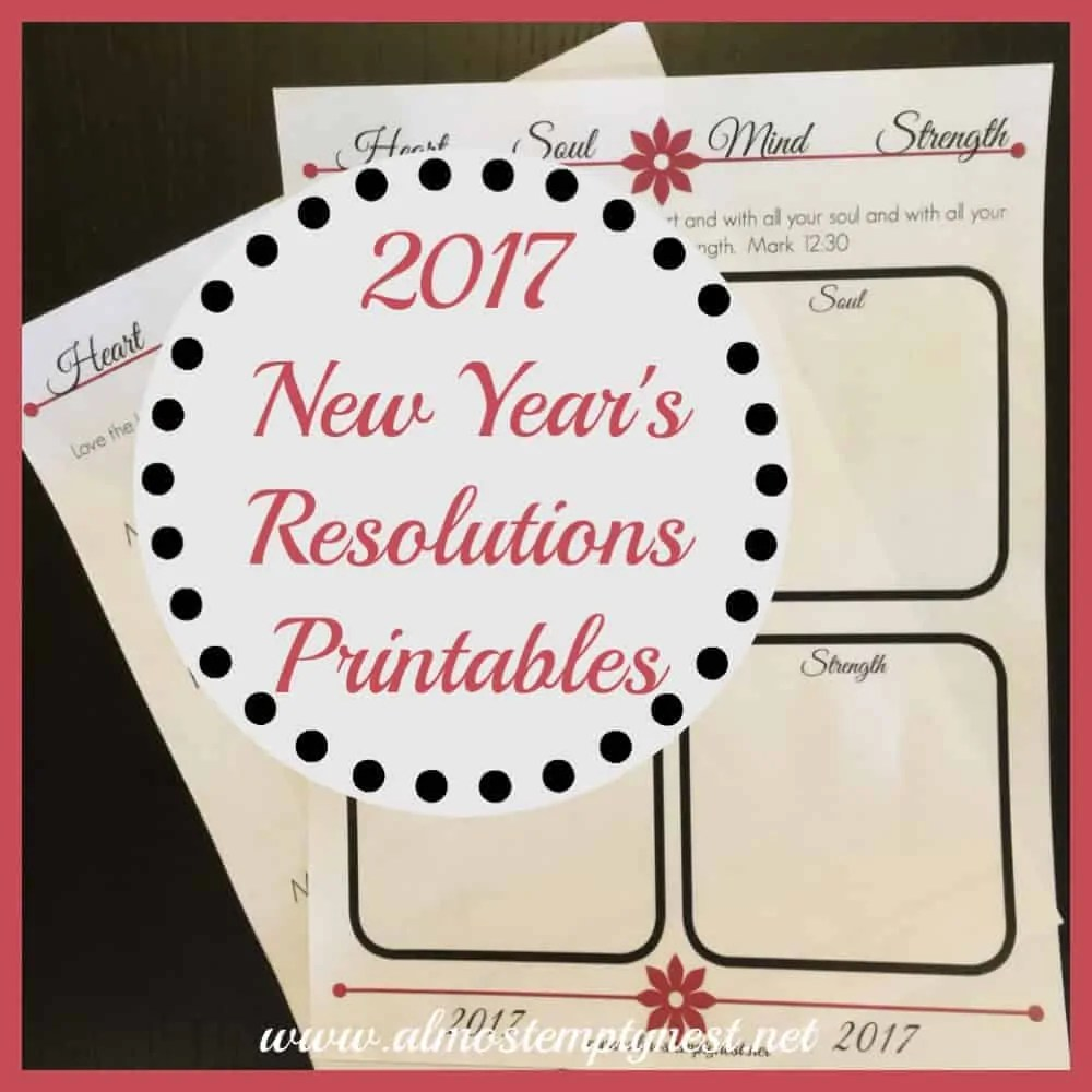 2017 new years resolution printables