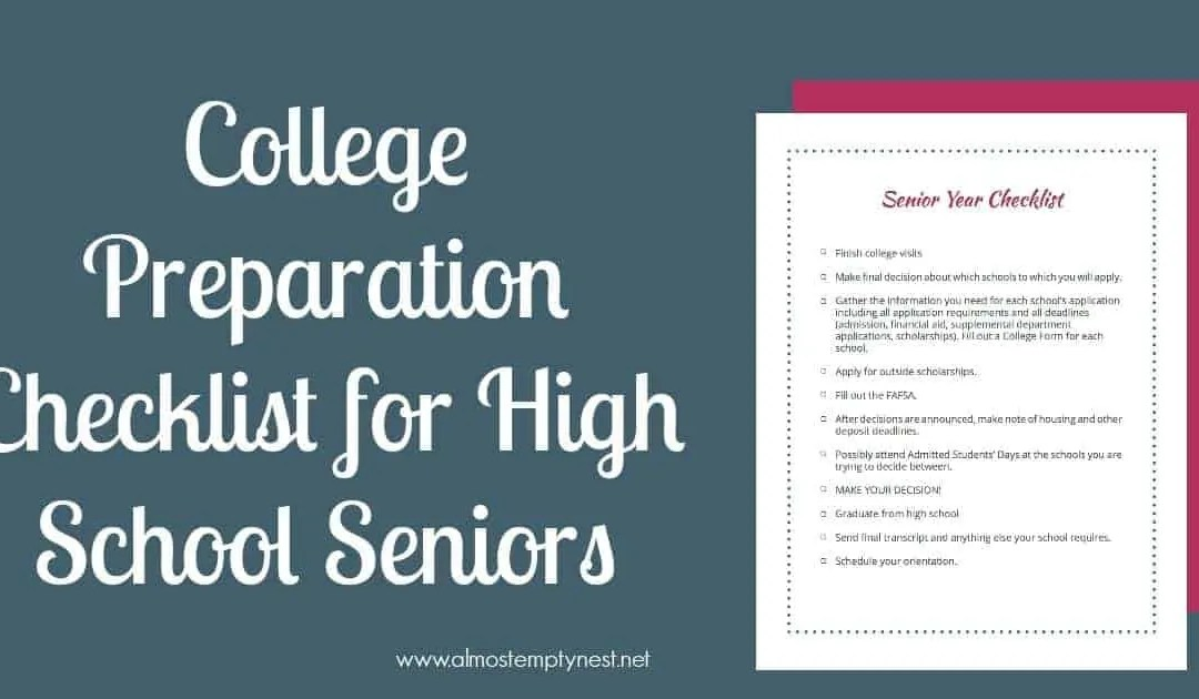 College Preparation Checklist for High School Seniors