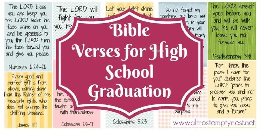 Bible Verses for High School Graduation